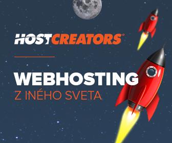 HostCreators - Webhosting, Hosting, Registrácia domén